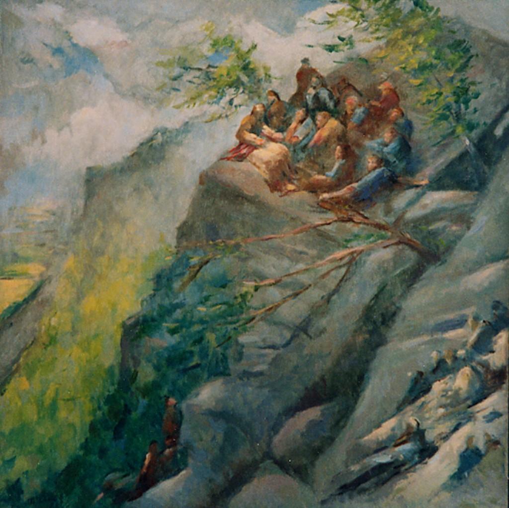 Sermon on the Mount | Oil on Canvas