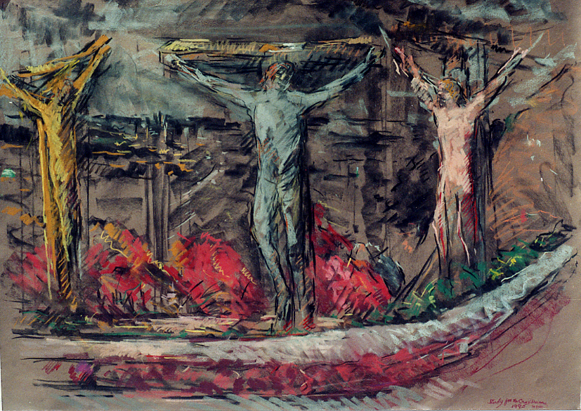 The Crucifixion | Pastel on Paper