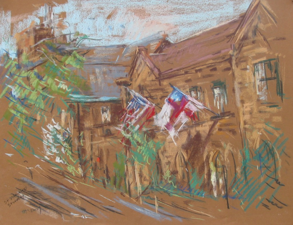 St Marys Church Study | Pastel on Paper