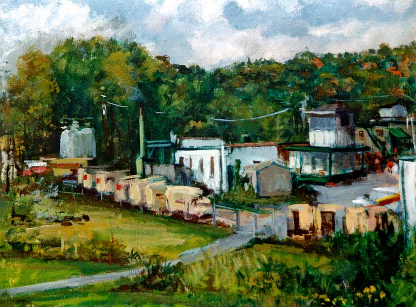 Barker's Dairy | Oil on Canvas
