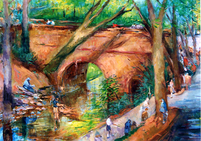 Mountain Brook Parkway | Oil on Canvas