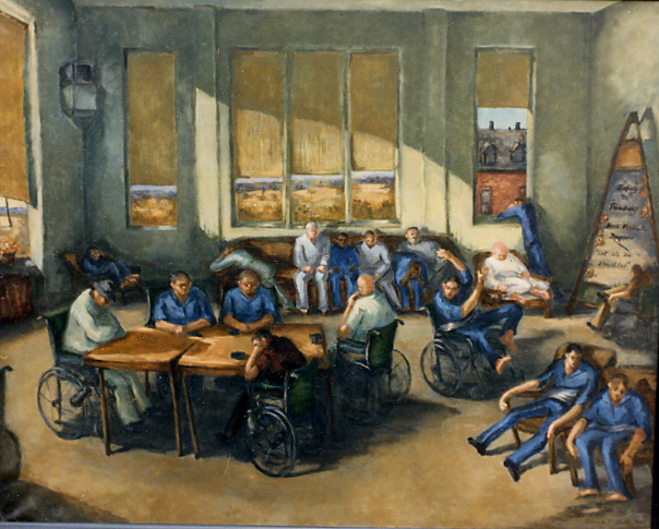Thanksgiving at the VA ! Oil on Canvas