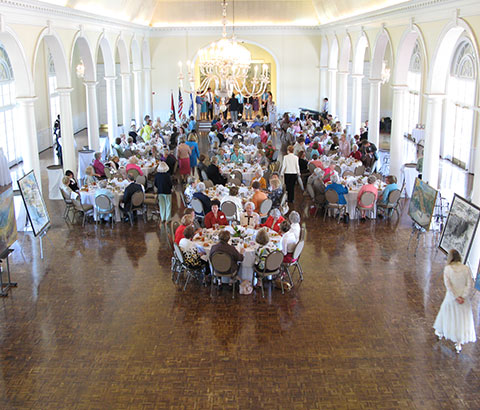 """Scenes from the Holy Land"" Exhibit. Women of 100 Luncheon. Birmingham Country Club, Birmingham, Alabama. Photo credit: Ivy Jackson."