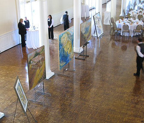 """Scenes from the Holy Land"" Exhibit. Women of 100 Luncheon. Birmingham Country Club, Birmingham, Alabama. Photo credit: Ivy Jackson."