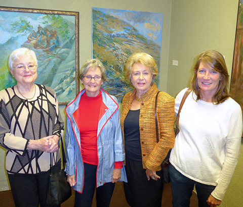 Visitors to the solo exhibit at the Crowe Building in Birmingham, Alabama in 2015.
