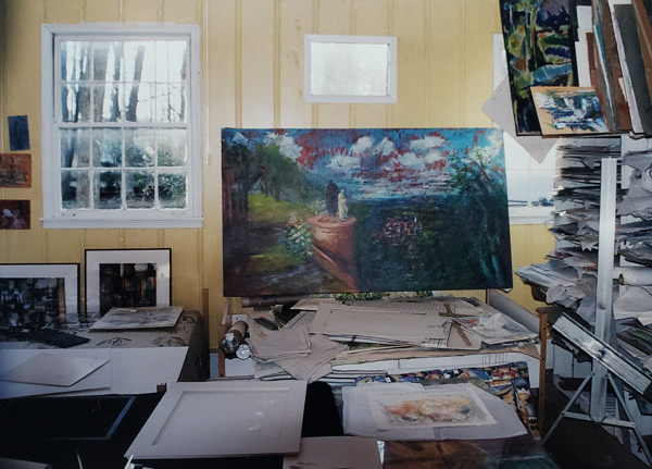 The art studio mid-1990s.