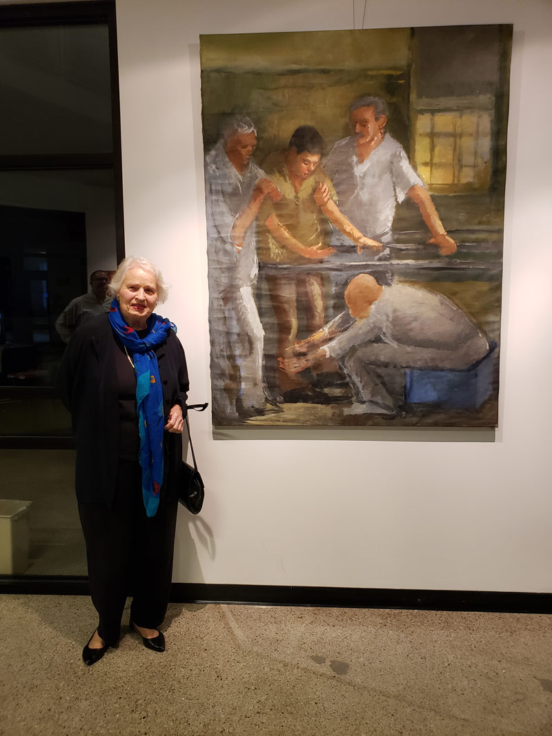 """Miriam McClung and her piece """"Learning to Walk Again"""""""