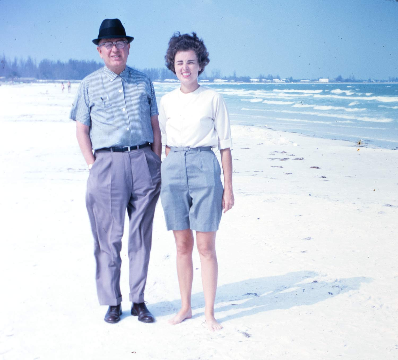 Miriam and her father in Sarasota, Florida.